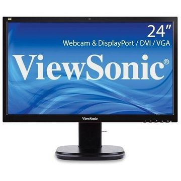 ViewSonic 24 Full HD Ergonomic LED Monitor with Integrated Webcam