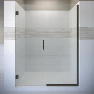 Basco Celesta 72-in H x 57-in to 58-in W Frameless Pivot Oil Rubbed Bronze Shower Door (Clear Glass) | CELA-935-58-72XPOR