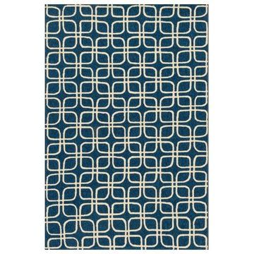 Loloi Rugs Venice Beach Collection Blue and Ivory, 9'3