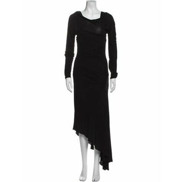 Cowl Neck Long Dress Black