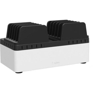 Belkin Store and Charge Go with Fixed Dividers (USB Compatible) - Wired - iPad, Smartphone, Tablet PC, Notebook, Chromebook, USB Device - Charging Capability - 10 x USB