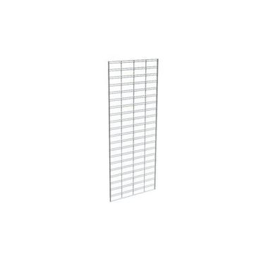Econoco Metal Slat Grid for Any Retail Display or Home Storage, 2 Width x 5 Height, 3 Grids Per Carton (CHROME)