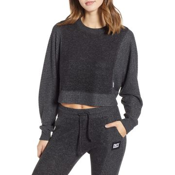 IVY PARK(R) Contrast Rib Crop Lounge Sweatshirt