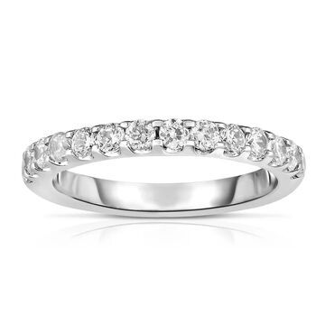 Noray Designs 14K White Gold Diamond (0.60 Ct, G-H Color, SI2-I1 Clarity) Wedding Band (6 - White)
