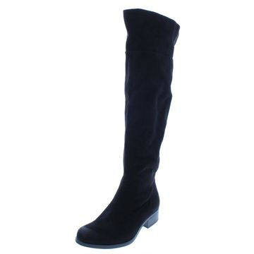 B.O.C. Womens Kace Faux Suede Almond Toe Over-The-Knee Boots