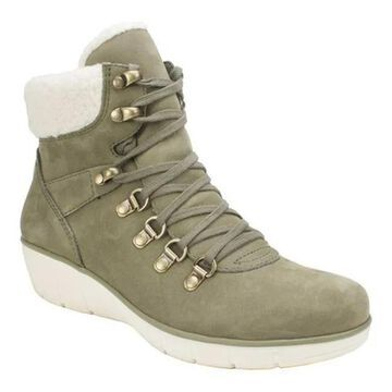 Cliffs by White Mountain Women's Emory Ankle Boot Olive Nubuck
