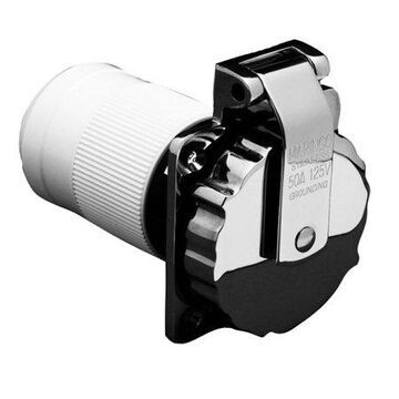 Marinco 6371EL-B 50A/125V Stainless Steel Power Inlet