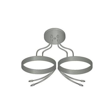 Kable Lite Center Dual-Feed Power Feed by Tech Lighting - Color: Satin Nickel - Finish: Satin Nickel - (700KPCEN4S)