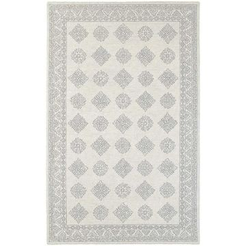 Style Haven Persian Panel Grey/Beige Traditional Loop-pile Rug (10' x 13') - 10' x 13'
