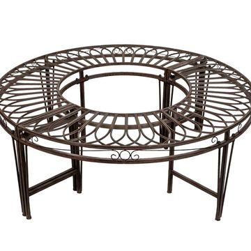 Design Toscano Artistic Roundabout Steel GardenBench