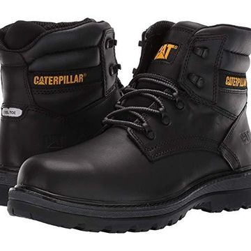 Caterpillar Fairbanks Steel Toe (Black Leather) Men's Work Boots