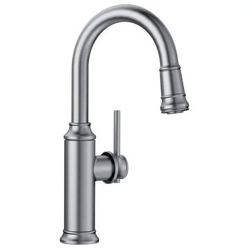 Blanco 442513 Empressa 1-Handle Pull-Down Bar Faucets, Stainless
