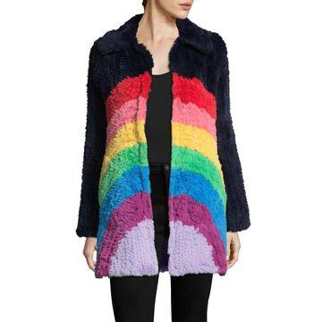 Manoush Womens Rainbow Coat