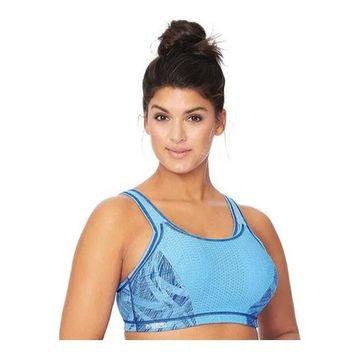 Glamorise Women's Adjustable Sport Bra Blue
