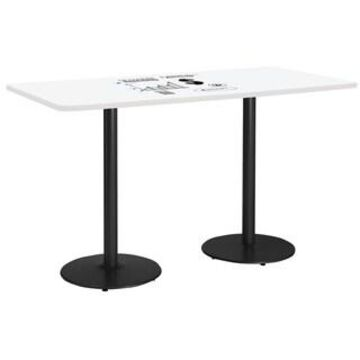 KFI Whiteboard Conference Table, Round Base (42