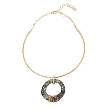Robert Lee Morris Soho Women's Abalone Pendant Wire Necklace