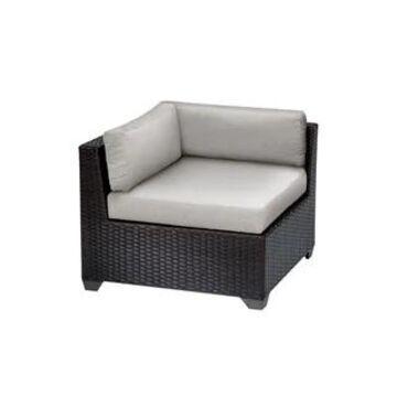 TK Classics Belle Espresso Polyethylene Resin Wicker/Aluminum Corner Sofa