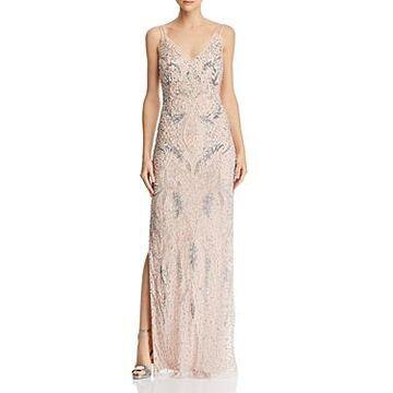 Aidan Mattox Deco Beaded Gown - 100% Exclusive