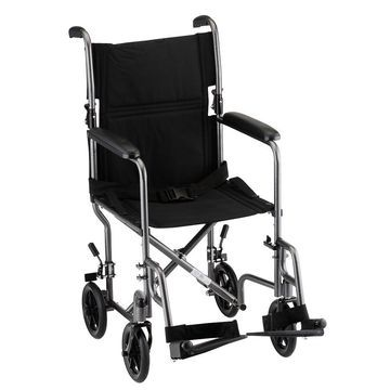 Nova Steel Transport Chair in Hammertone 19 inch