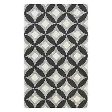 Couristan Bowery Canarsie Trellis Wool Rug, Grey, 8X10.5 Ft