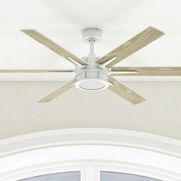 """56"""" Honeywell Kaliza Indoor Modern Ceiling Fan with Remote, Bright White"""