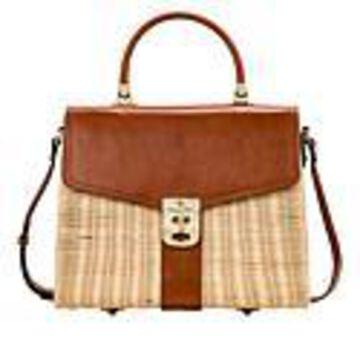 Patricia Nash Mayenne Spring Wicker Flap Bag - Tan/Natural