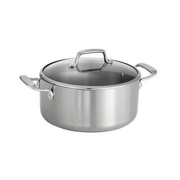 Tri-Ply Clad 5 Qt Covered Stainless Steel Dutch Oven