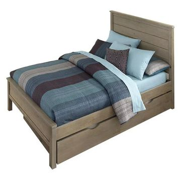 NE Kids Highlands Alex Full Panel Bed with Trundle in Driftwood