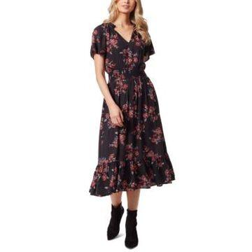 Jessica Simpson Meadow Printed Ruffled Dress