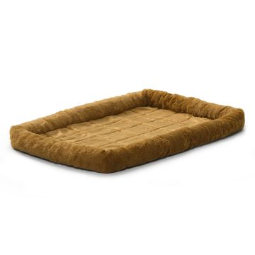 Midwest Quiet Time Bolster Cinnamon Dog Bed
