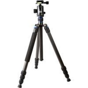 Tiffen by Davis & Sanford TR654C-36 Traverse 4-Section Carbon Fiber Grounder Tripod with Ball He