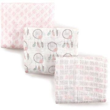 Hudson Baby Boy and Girl Muslin Swaddle Blankets, 3-Pack - Dream Catcher