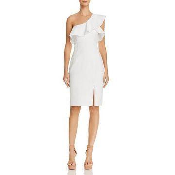 Bardot Womens Ruffled One Shoulder Cocktail Dress
