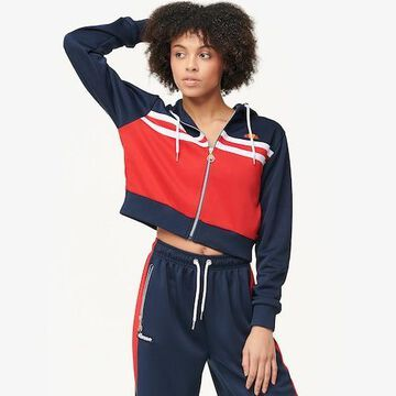 Ellesse Bulito Crop Hoodie Track Jacket - Blue / Red