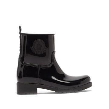Moncler - Ginette Logo-plaque Rubber Boots - Womens - Black