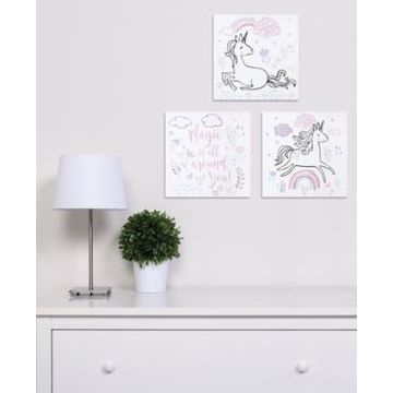 Trend Lab Magical Unicorn Canvas Wall Art 3-Pack Bedding