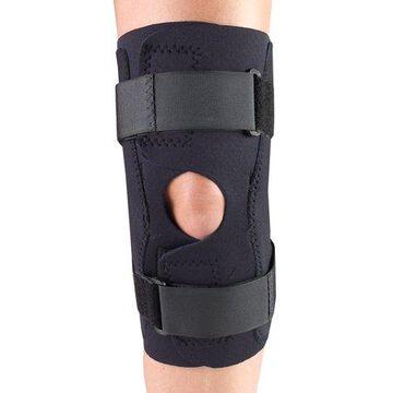 OTC Neoprene Knee Stabilizer Wrap - Hinged Bars, Black, X-Large
