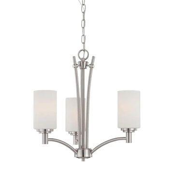 Thomas Lighting Pittman 3-Light Brushed Nickel Traditional Chandelier   190040217