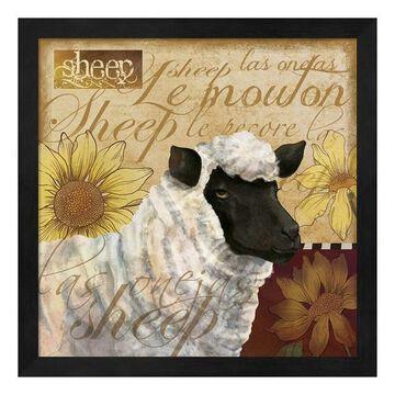 Metaverse Art Sheep Framed Wall Art