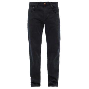 Nudie Jeans - Gritty Jackson Organic-cotton Straight-leg Jeans - Mens - Black
