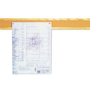 Quartet Cork Bulletin Board Border Natural Cork 48 x 5 Oak Frame 300B