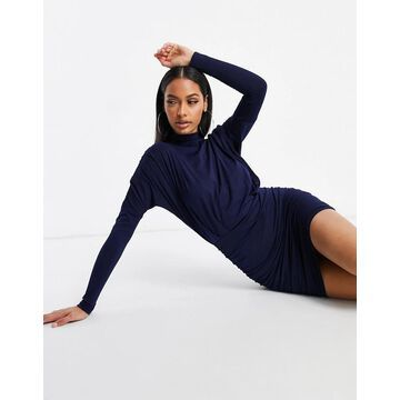 AX Paris high neck mini dress in navy