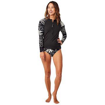 Carve Designs Kona Rashguard (Black/Wailuku) Women's Swimwear