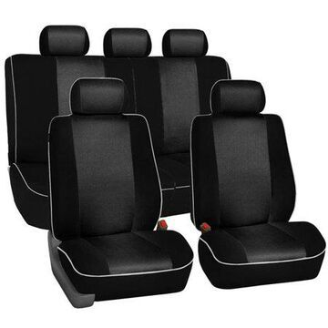 FH GROUP Edgy Piping Full Set Seat Covers with bonus Air Freshener