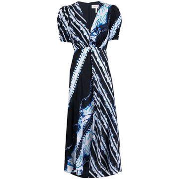 tie-dye print maxi dress