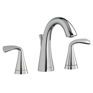 American Standard Fluent Polished Chrome 2-handle Widespread WaterSense Bathroom Sink Faucet with Drain Stainless Steel | 7186801.002