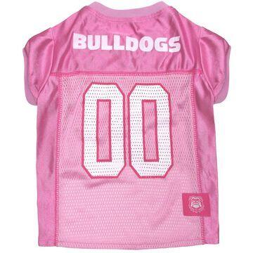 Pets First Georgia Bulldogs Pink Jersey, X-Small