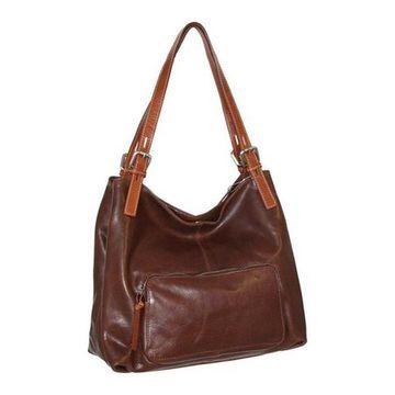 Nino Bossi Women's Isabel Leather Satchel Walnut - US Women's One Size (Size None)