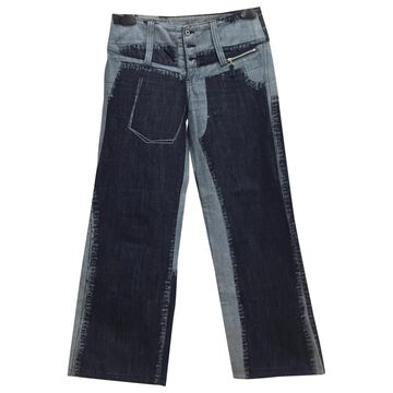 Issey Miyake Blue Cotton Jeans