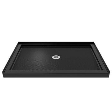 DreamLine SlimLine 36 in. D x 42 in. W x 2 3/4 in. H Center Drain Single Threshold Shower Base in Black